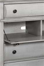 Drop Front Drawer on Media Chest