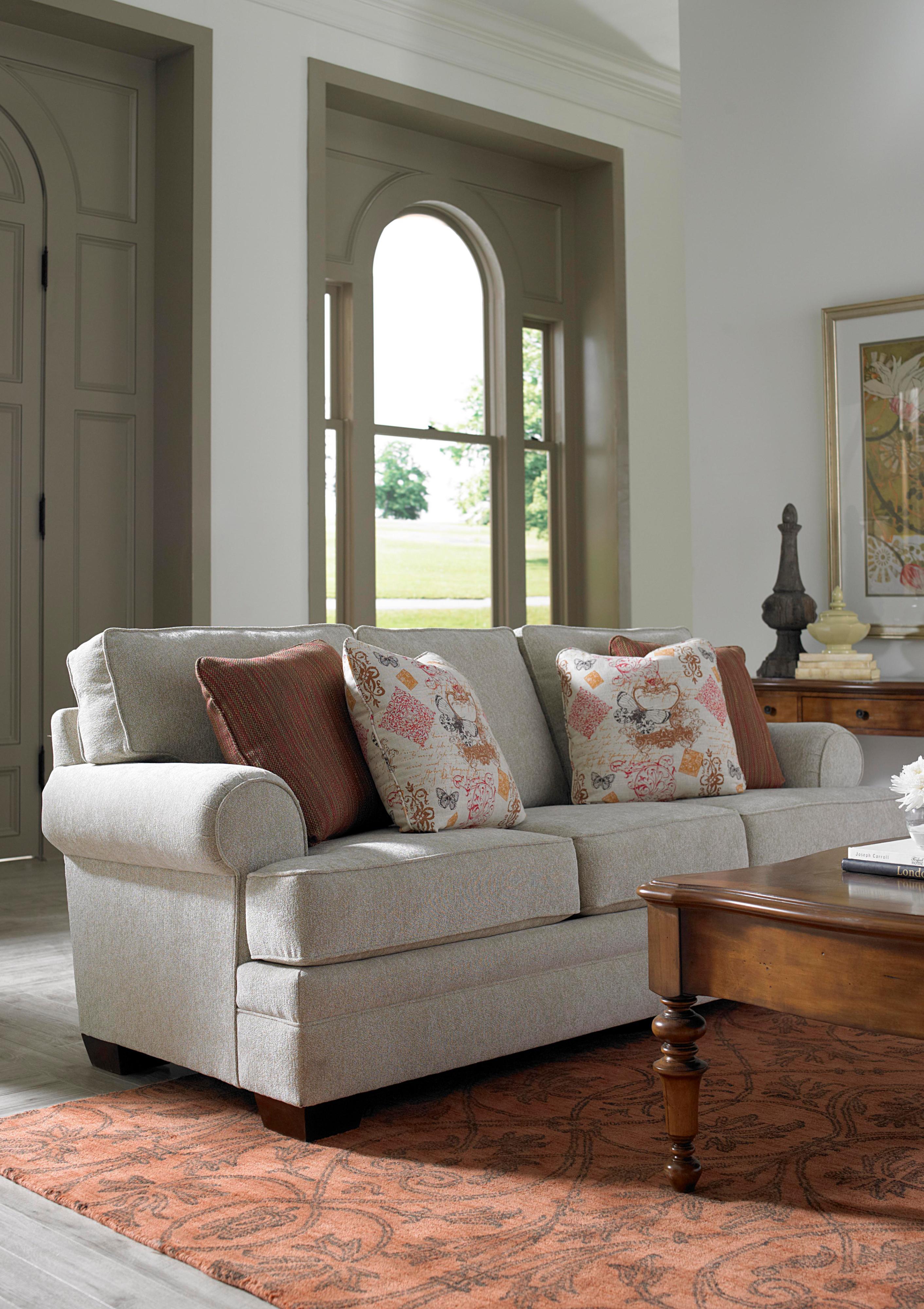 Broyhill Furniture Landon Transitional Chair and Ottoman Set