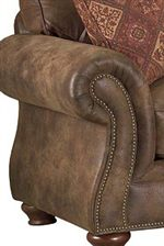 Large, Rolled Arm with Nailhead Trim