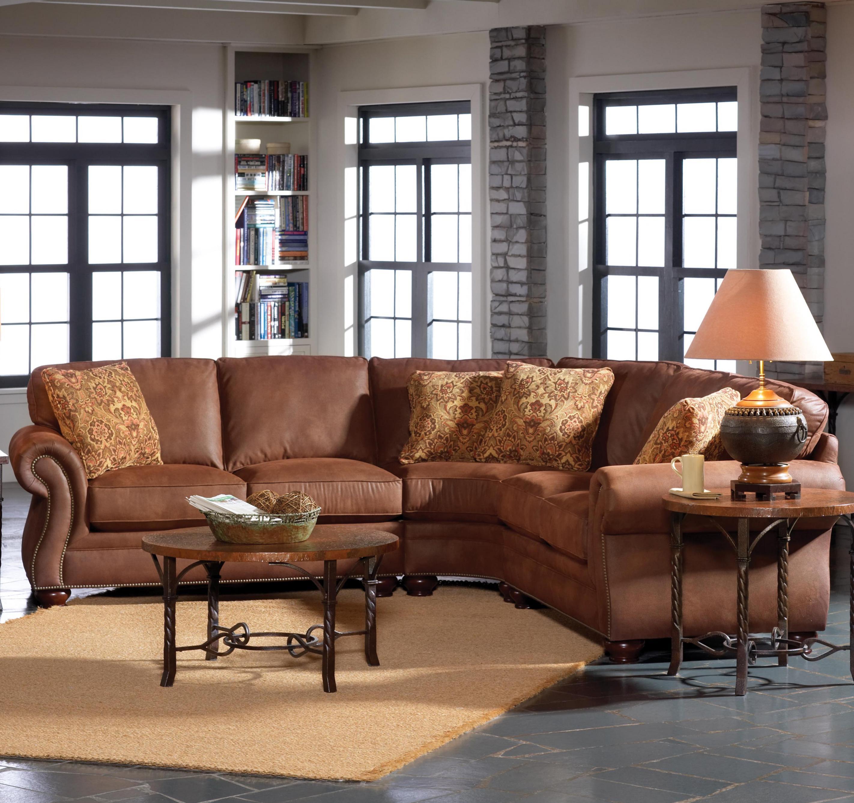Broyhill Furniture Laramie Chair and Ottoman Set w Nail Head Trim