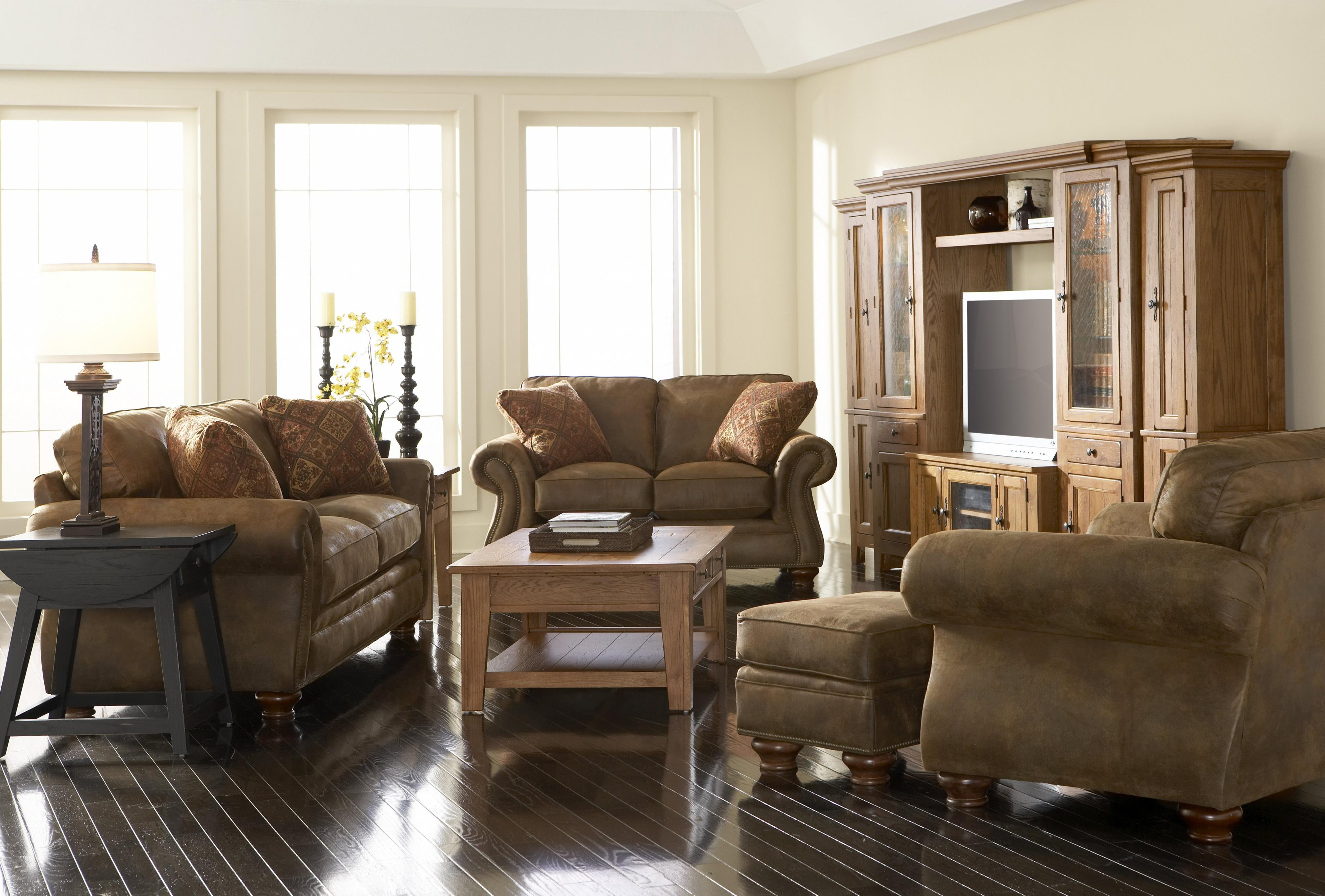 Broyhill Furniture Laramie Piece Corner Sectional Sofa Wayside - Broyhill conversation sofa leather