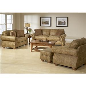 Broyhill Furniture Laramie Loveseat w/ Nail Head Trim