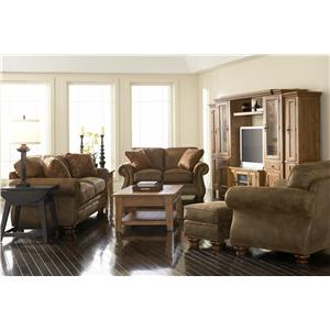 Broyhill Furniture Laramie Chair w/ Nail Head Trim