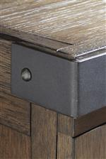 Metal Corner Bracket Accents for that Urban Rustic Touch