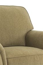 Rounded T-Styled Back Cushion with Welt Trim
