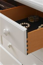 Drawers Enhanced with Jewelry Compartments, Silverware Trays and Lined or Cedar Interiors