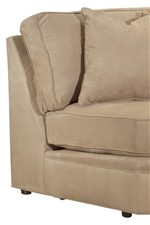 Angled Backs and Loose Ultralux Cushions Provide a Comfortable Seat
