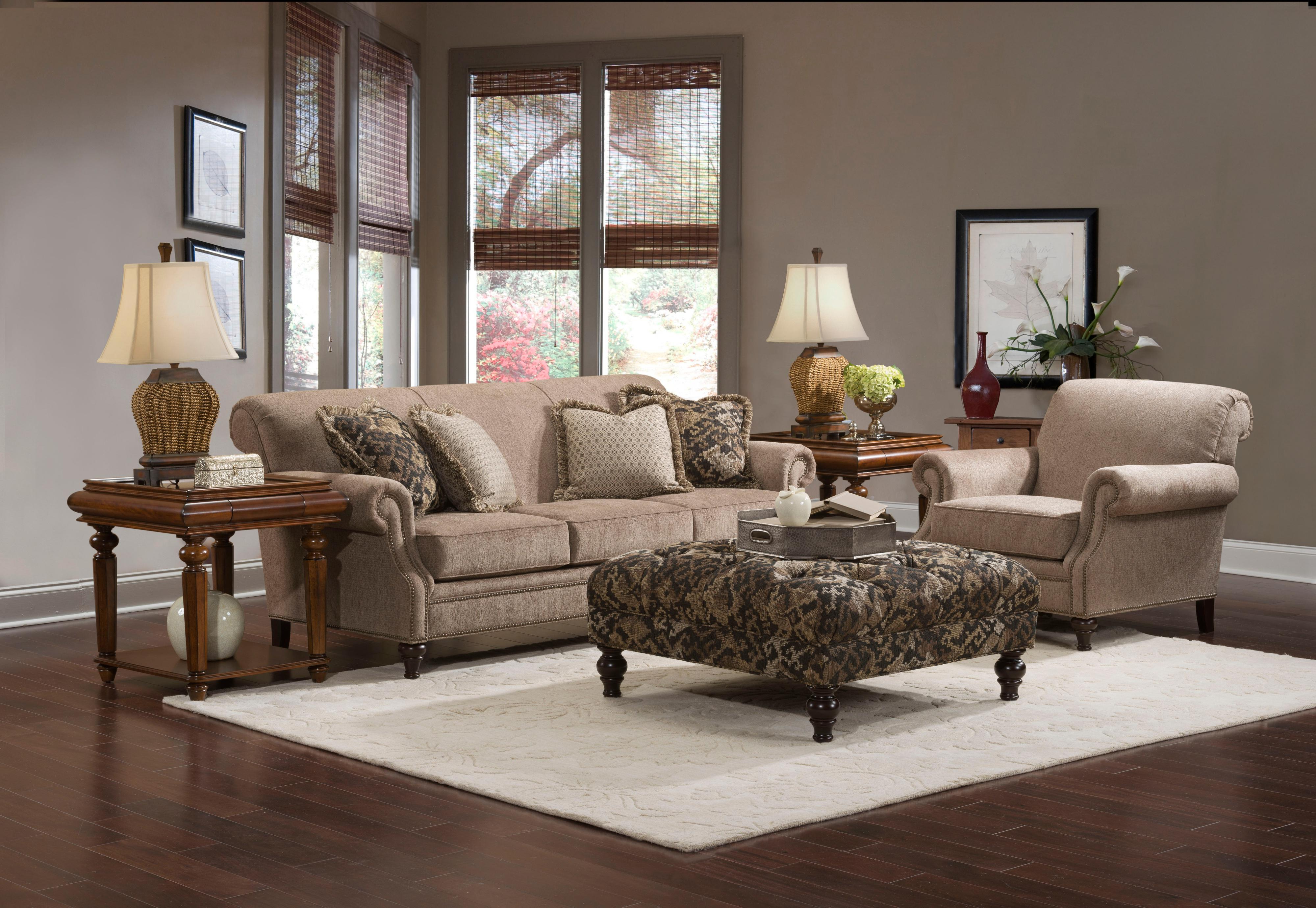 Broyhill Furniture Windsor Stationary Living Room Group - Wayside ...