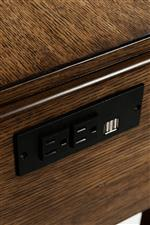 Built In Outlets and USB Ports in Chairside Table