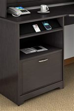 Built-in Charging Station & File Drawer