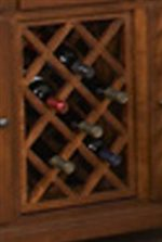 Store Your Wine Collection within the Lattice Pattern Rack for Easy Access.