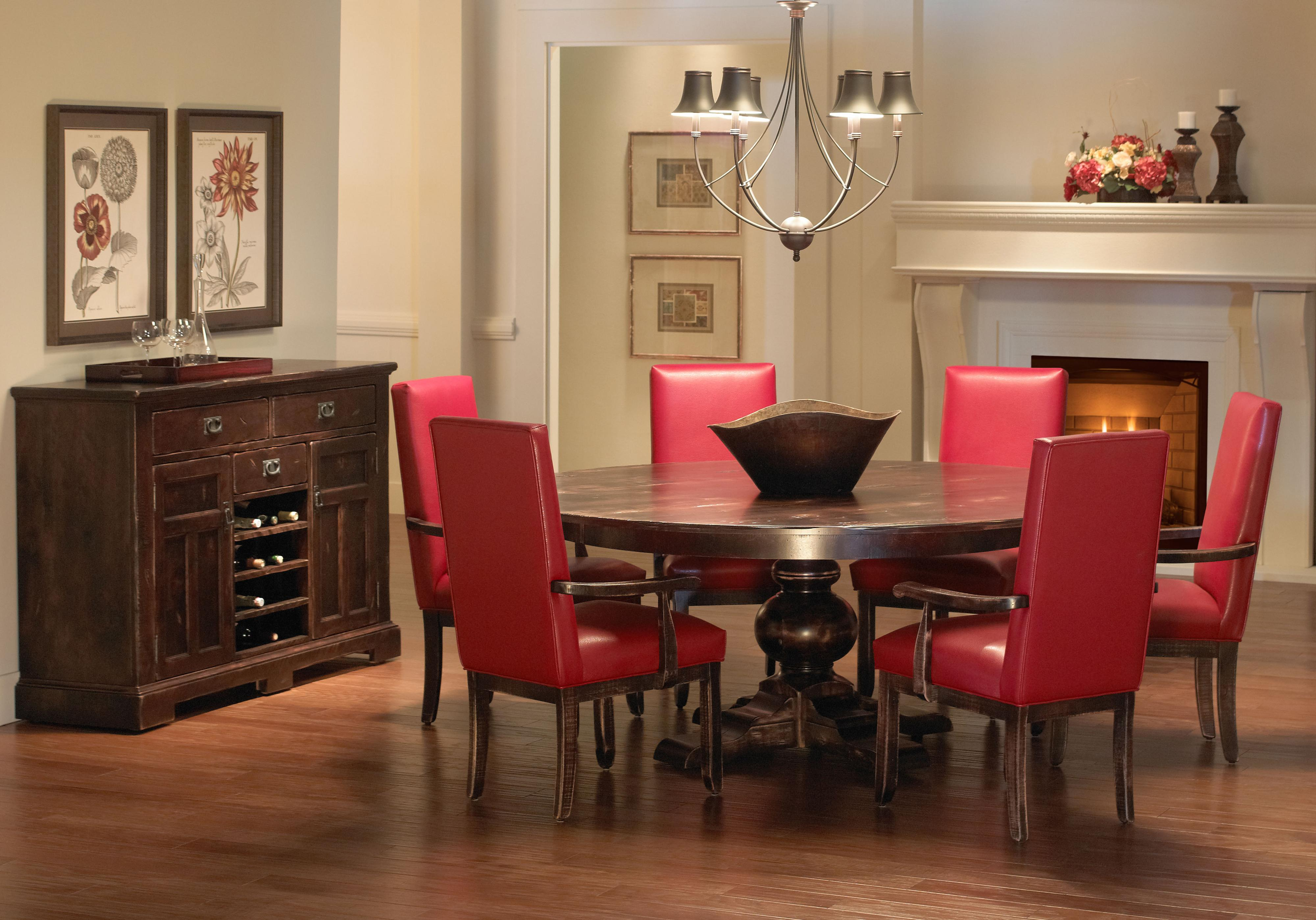 Canadel Champlain - Custom Dining Customizable Round Dining Table With Pedestal Base