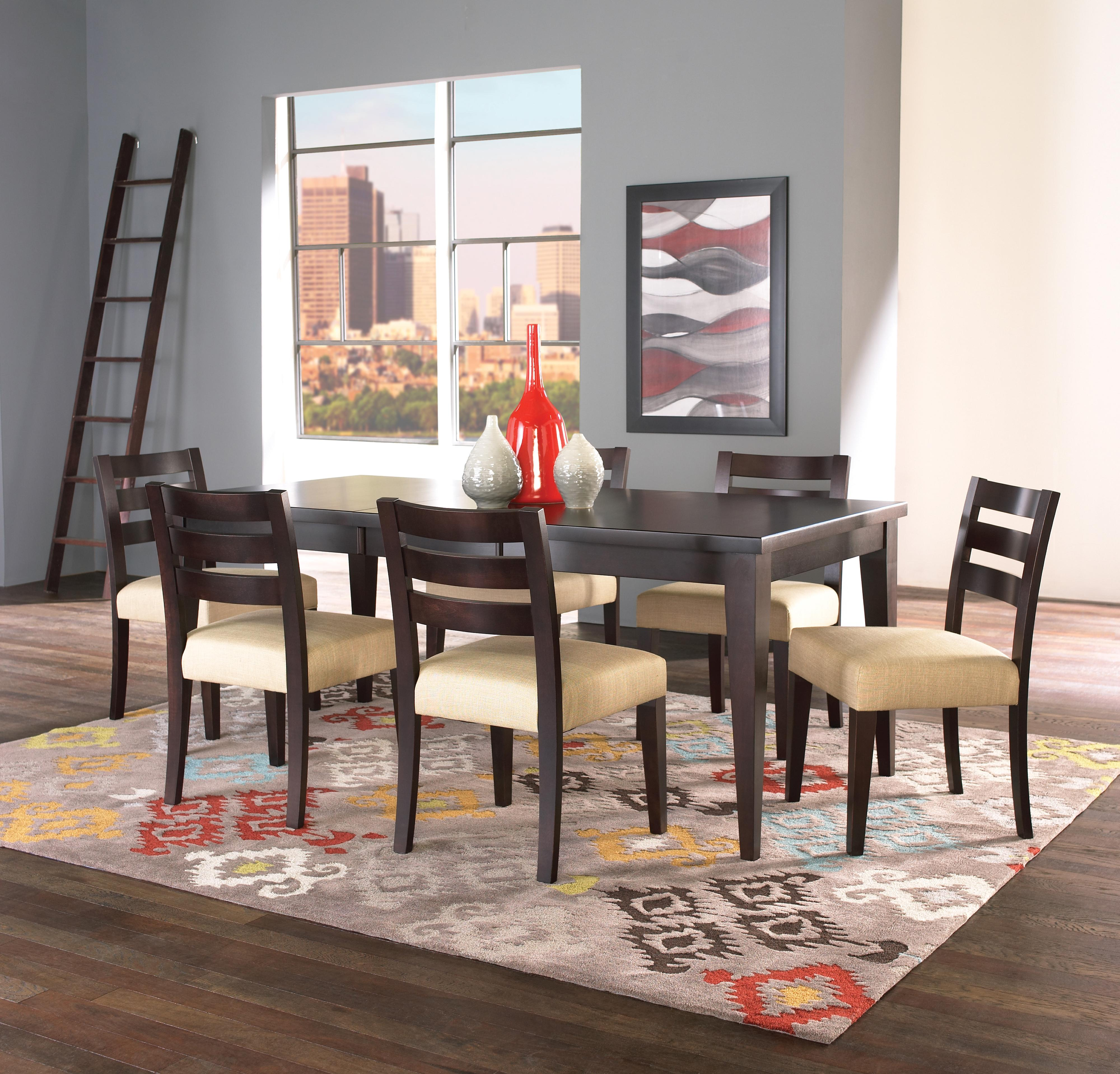 Canadel Custom Dining Customizable Rectangular Table With Thick Top And Legs Darvin Furniture