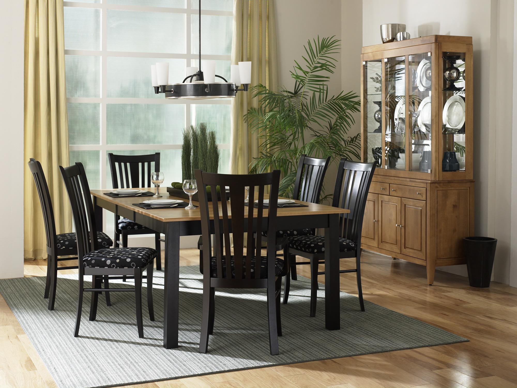 Canadel Custom Dining   Contemporary Customizable 7 Piece Rectangular Table  Set   Rotmans   Dining 7 (or More) Piece Set Worcester, Boston, MA,  Providence, ...
