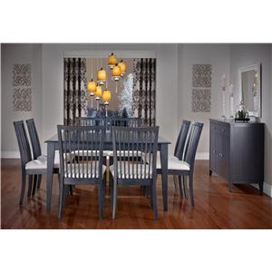 Canadel Gourmet - Custom Dining Customizable Square Leg Table & Chairs Set