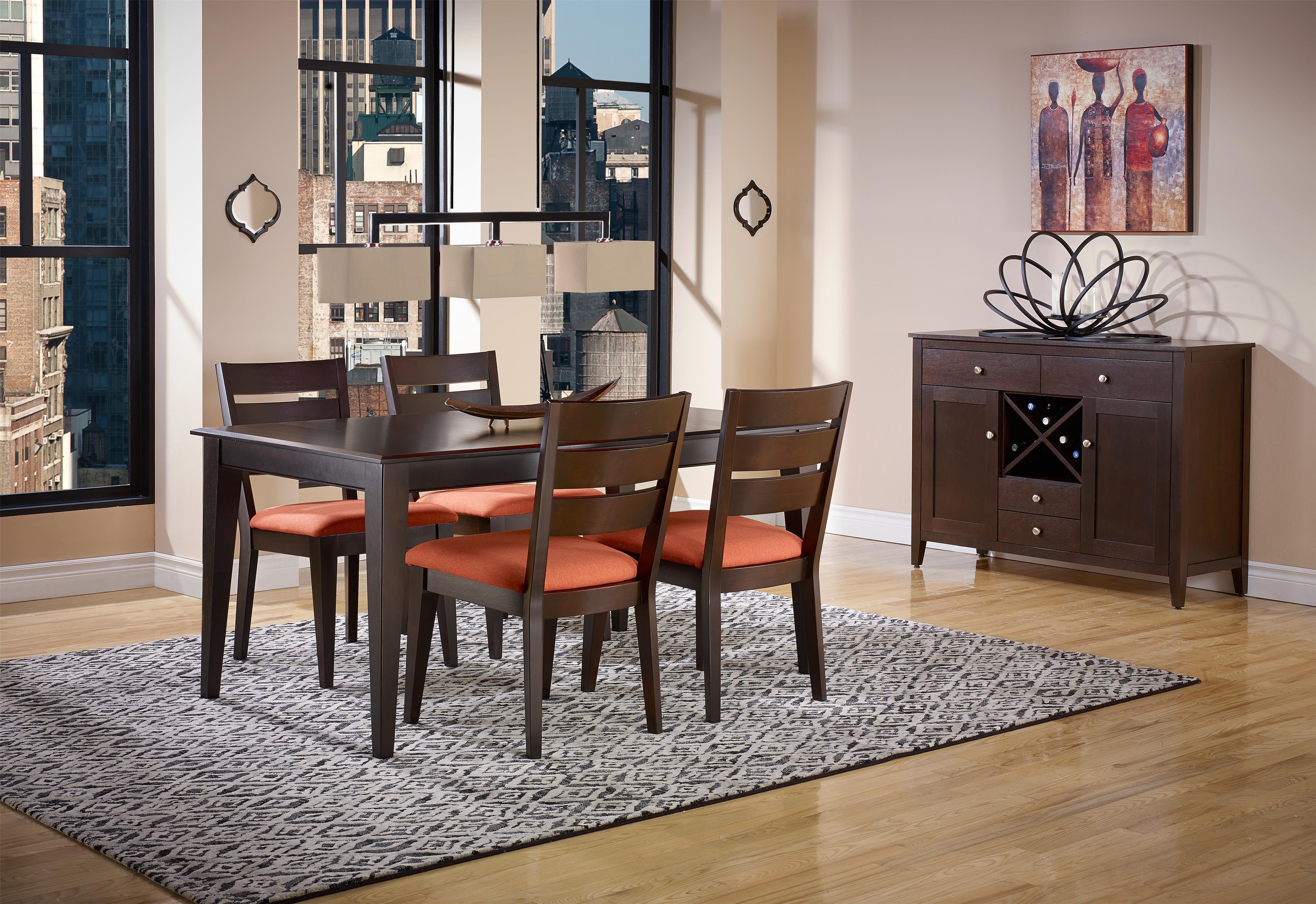 Canadel Gourmet   Custom Dining Customizable Rectangular Table Set | Turk  Furniture | Dining 5 Piece Sets Joliet, La Salle, Kankakee, Plainfield, ...