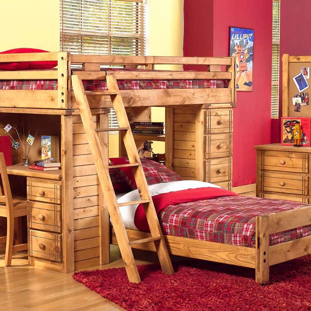 Canyon Arbor Creek Bunk Bed with Desk & Storage Combo - BigFurnitureWebsite  - Bunk Bed - Canyon Arbor Creek Bunk Bed With Desk & Storage Combo