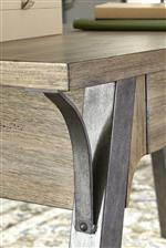 Burnished Metal Hardware and Natural Grain of the Birch Veneers
