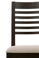 Crisp Slat Back On Dining Chairs