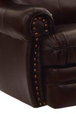 Rolled Arms with Nail Head Detailing on the Rocker Recliner