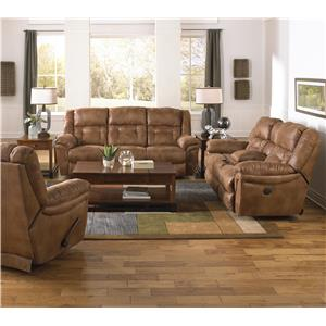 Catnapper Joyner Lay Flat Power Reclining Console Loveseat