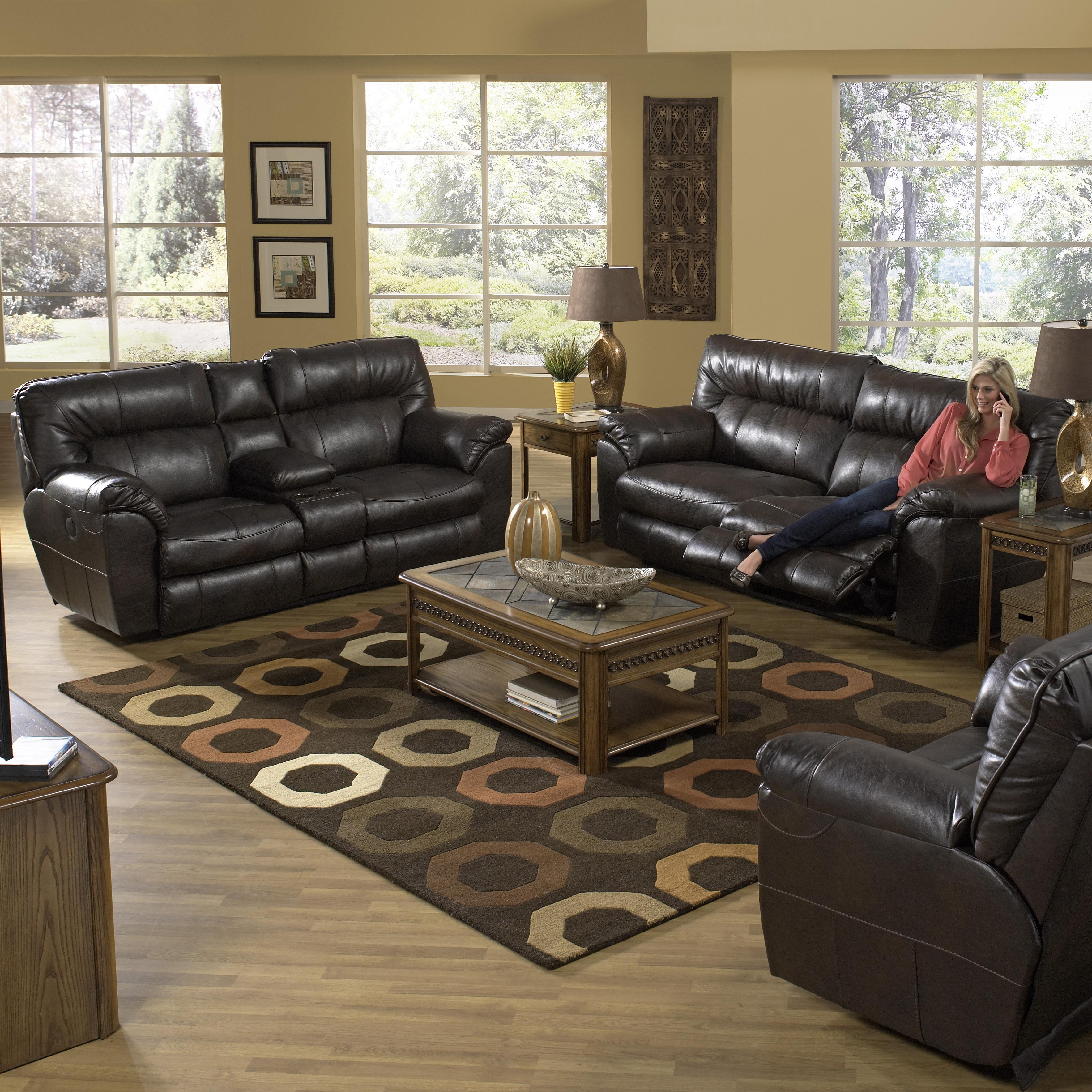 Catnapper MAVERICK Power Reclining Sectional Sofa With Left Console | EFO  Furniture Outlet | Reclining Sectional Sofas