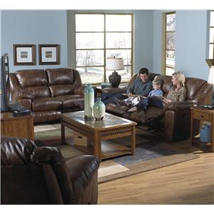 Catnapper Transformer Rocking Reclining Loveseat with Casual Style
