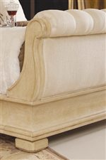 Upholstered Sleigh Bed Footboard
