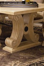 Carved Double Pedestal Bases
