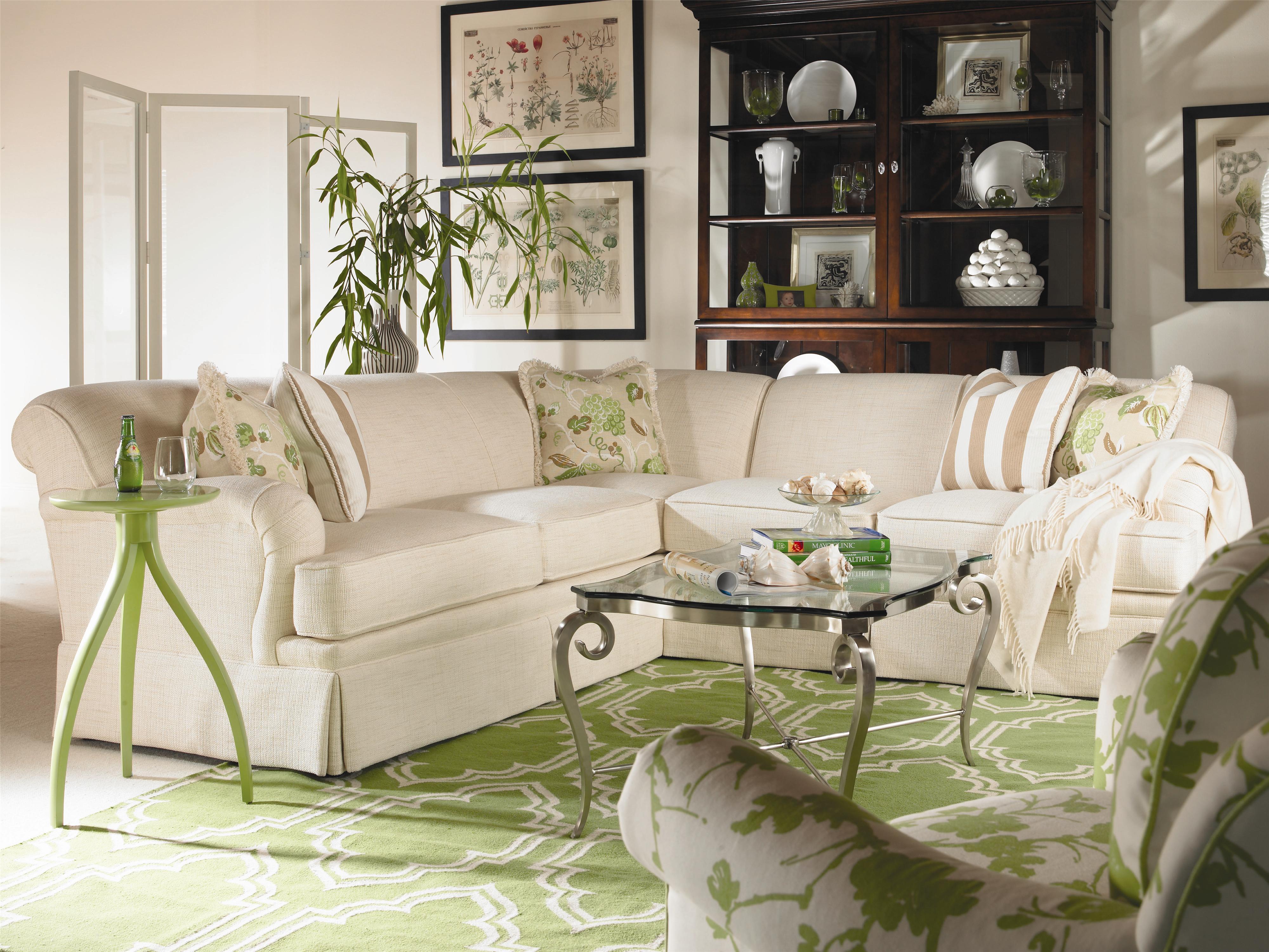 Century Cornerstone <b>Customizable</b> Sectional Sofa with English ...
