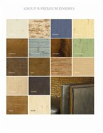Premium Wood Finishes Include Aged, Distressed, Painted and Crackled Varieties
