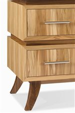 Towered Drawers with Short Flared Legs.