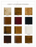 Standard Wood Finishes Offered in Aged, Antiqued, Natural and Painted Varities