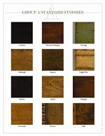 Additional Standard Wood Finishes Available on Exposed Wood Pieces