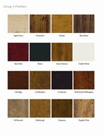 Wood Finishes Offered in Rich and Distinctive Color Choices