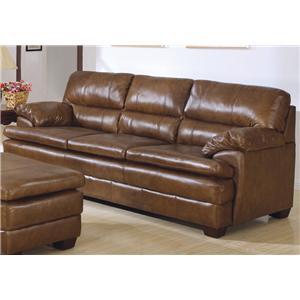 Charles Schneider L44 Leather 3 Cushion Sofa Bigfurniturewebsite
