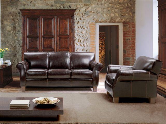 Chateau Du0027Ax 1681 Transitional Leather Sofa With Rolled Arms And Tapered  Legs   BigFurnitureWebsite   Sofa