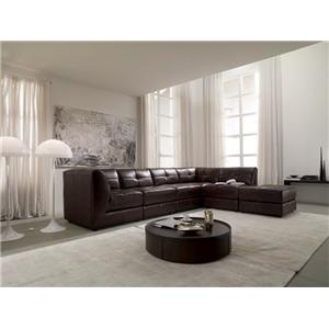 Wondrous Chateau Dax U745 Leather 6 Piece Modular Sectional Sofa Caraccident5 Cool Chair Designs And Ideas Caraccident5Info