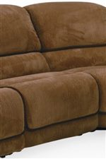 Padded Chaise Seating Provides Head to Toe Comfort
