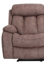 Cozy Pillow Arms and Padded Footrest Create Head to Toe Comfort