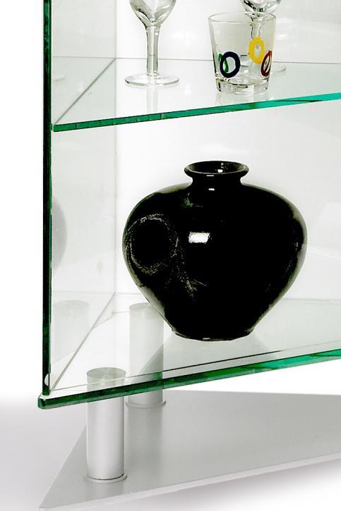 Chintaly Imports Curios Triangular Shaped Curio Cabinet    BigFurnitureWebsite   Curio Cabinet