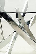 Contemporary & Creative Cross Leg Chrome Table Base