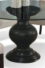 Curved Pedestal Table Base