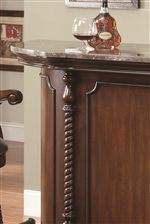 Marble Top Bar with Rope Trim