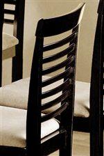 Sleek Ladder Back Design