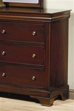 Carved Bracket Feet and Classic Molding Create Distinctive Traditional Style