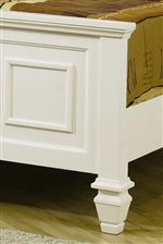 Paneled Footboard With Distinctive Square Feet