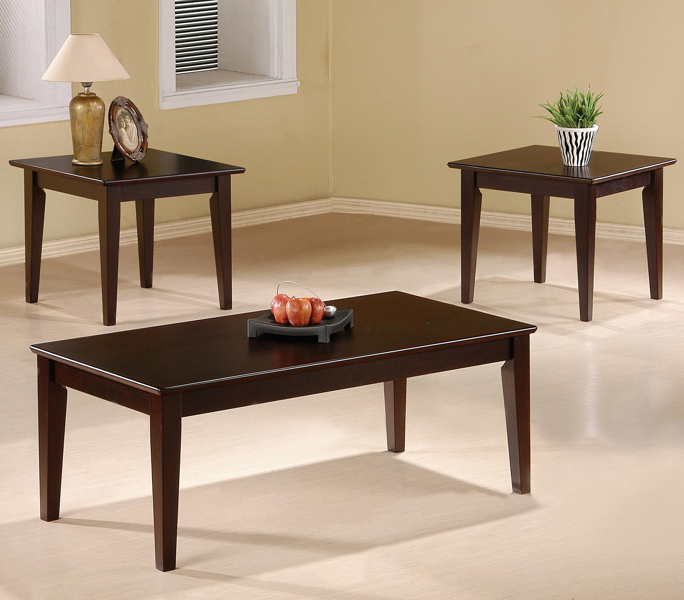 Coaster Occasional Table Sets Modern Coffee And End Set Fine Furniture