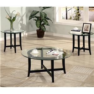 Coaster Occasional Table Sets 2 Piece Contemporary Occasional Set & Coaster Occasional Table Sets 2 Piece Contemporary Occasional Set ...