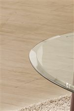 Round, Beveled Glass Tops Made with 5x Stronger Tempered Glass